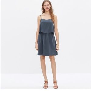 Madewell | Silk Blue Overlay Cami Dress
